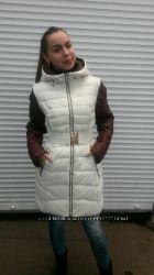 Осенняя курточка с шарфом