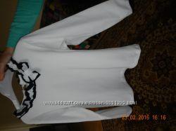 Кофточка для девочки дл. рукав , белая р. 140 Украина