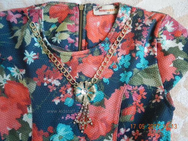 Яркое летнее платье р. 140 Турция MINIMODA торг