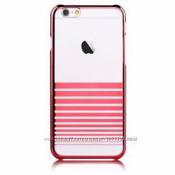 Полосатый прочный чехол накладка Devia для на Айфон iPhone 6