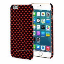 Чехол накладка ARU с сердечками для на Айфон iPhone 6