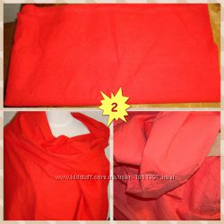 Отрез ткани хлопок 10 СССР красный цвет сжатка