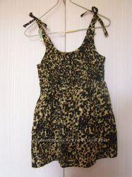 Легкая майка-туника леопардовой расцветки