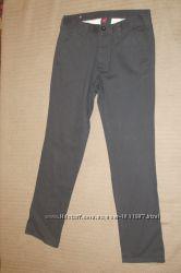 Серые хб молодежные брюки в стиле джинсов. Denim cO. Англия. 2830