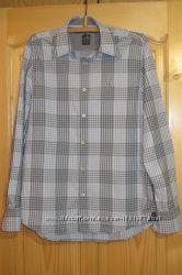 Красивая приталенная клетчатая рубашка Lion Vanguard. Голландия. М.