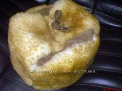 Шапка зимняя из натуральной овчины размер 55