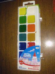 Акварельные краски медовые полусухие Чудо-Краски 14 цветов.