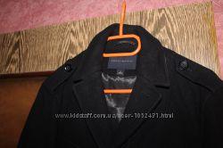 Стильный брендовый френч, куртка BANANA REPUBLIC S-М  шерсть черно