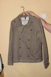 Стильный брендовый тренч куртка DIVIDED BY H&M M хаки косуха