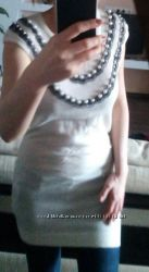 Платье свитер  с жемчугом Orsey