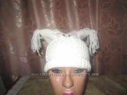 Продам вязаную шапочку совушка