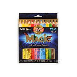 Карандаши KOH-I-NOOR цветные Magic, 12 шт Блендер