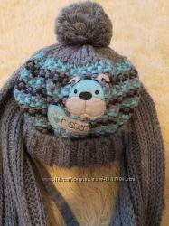 Зимняя шапка и шарф на мальчика Raster Польша 46-48р.