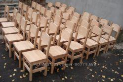 Дитячі стільці, стільці в дитячий садочок з натурального дерева.