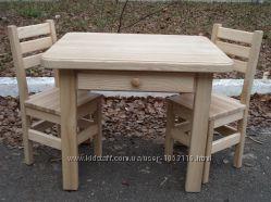 Дитячий комплект стіл з шухлядою стол стілець