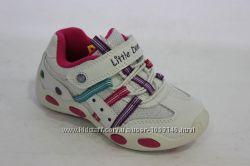 Кроссовки белые с розовыми вставками для девочки B&G