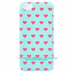 Чехол накладка с сердцами Светящийся в темноте ARU для iPhone 5C 9 разных