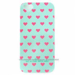 Чехол накладка ARU для на Айфон iPhone 5 и 5S Hearts 10 цветов