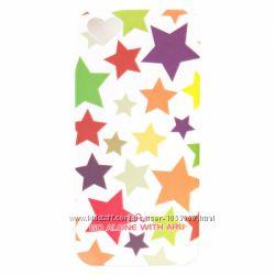 Чехол со звёздами накладка ARU на для Айфон iPhone 5 и 5S