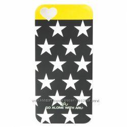 Чехол накладка ARU для на Айфон iPhone 5 и 5S Stars