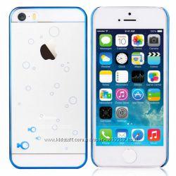 Чехол накладка с рыбками Devia для iPhone 5 5S Fish