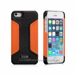 Кожанный чехол накладка iCarer для iPhone 5 5S Colorblock