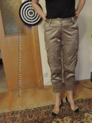 брюки атласні