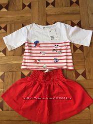 Костюм - юбка и футболка на девочку фирмы hm