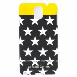 Стильный чехол накладка с звёздами ARU для на Samsung Galaxy Note 3