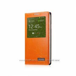 Чехол книжка КОЖА с окошком Xoomz для на Samsung Galaxy Note 3 Original