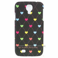 Чехол с сердцами пластик накладка ARU для на Samsung Galaxy S4