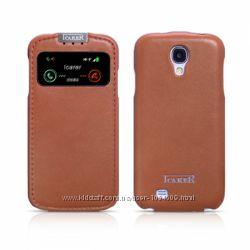 Чехол флип кожа с окошком iCarer для на Samsung Galaxy S4