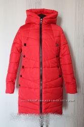 Зимняя женская куртка-пуховик. Фасон расклешенный.