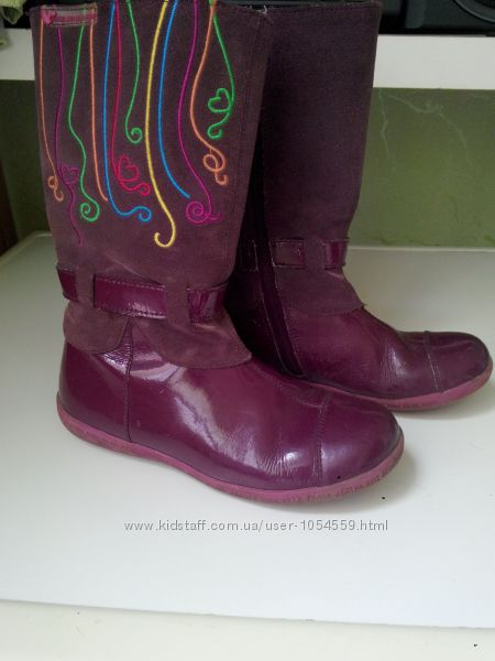 Сапоги кожаные детские Prada оригинал