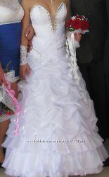 Счастливое Белое Свадебное платье