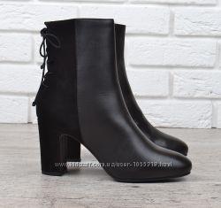 8fa83864591 Ботильоны женские кожаные на каблуке черные River Island оригинал ...