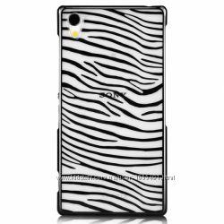 Полосатый чехол зебра Vouni для на Sony Xperia Z2