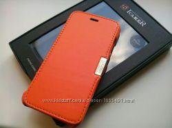Последний оранжевый кожаный чехол iCarer для Apple iPhone 6