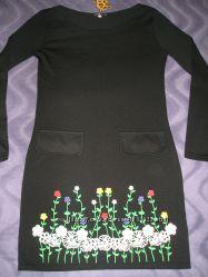 красивенное трикотажное платье S-M новое