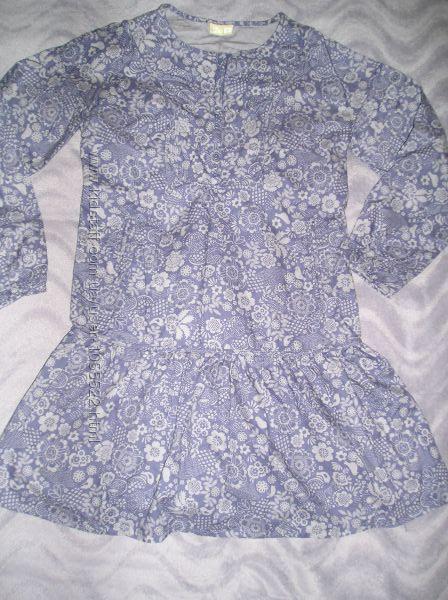 модное коттоновое платье для подростка, худенькой мамочки рост 156 см