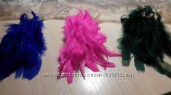 Яркие перья для декора и рукоделия