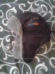 Зимняя шапка-ушанка мальчику