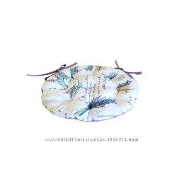 Подушечка на стул - 1шт, из итальянской ткани  в стиле прованс
