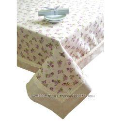 Шикарная скатерть  Престиж Lilac rose,  Red rose, cups, ТМ Прованс