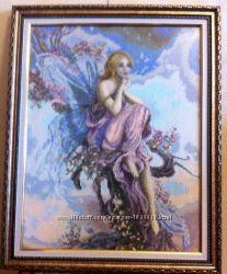 Картина Волшебный Ангел вышитая крестиком