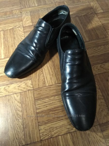 Мужские кожаные туфли натуральная кожа снаружи внутри 41 42 шкіряні черевик