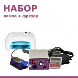 Набор для начинающего Уф-лампа 818Фрезер Lina 25000