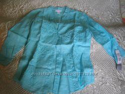 Льняная рубашка из Америки размер 6 US 46-48