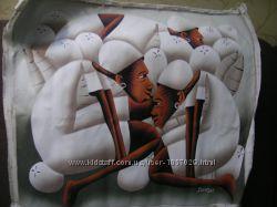 Картина в африканском стиле на холсте