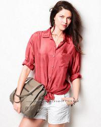 Рубашка шелк 100 Garnet Hill размер 14 US 52-54-56